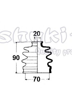 Bellow Set, drive shaft M164-05
